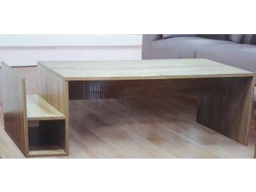 Konferenční stolek stůl do obýváku na časopisy noviny Dub Sonoma levný nejlevnější sleva skladem