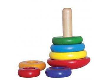 Woody Skládací pyramida barevná káča 90003