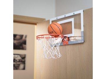 ABC basketbalový koš s deskou míčem a pumpičkou na dveře  45 x 30 cm