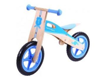 Dřevěné odrážedlo odstrkovadlo Kiddy Play Primipassi modré nejlevněji nejlevnější levně skladem