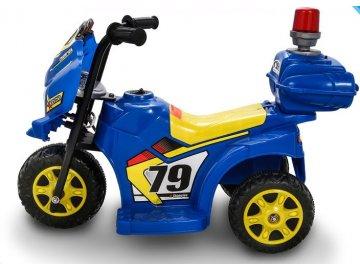 Kids World Dětská elektrická motorka Policie 1