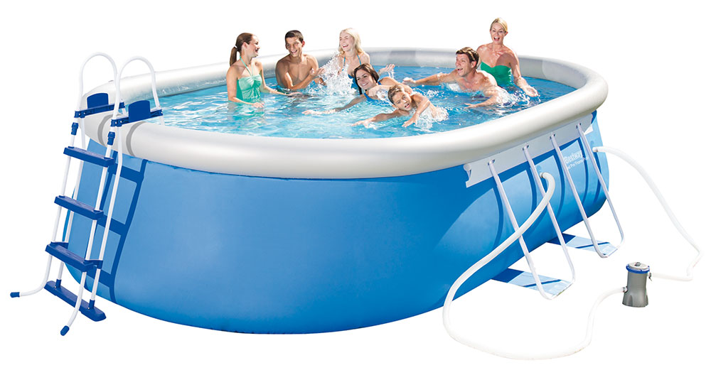 Bestway bazén Steel Pro Oval Frame 4,88 x 3,05 x 1,07 m - 56447 - MIMOŘÁDNÁ AKCE DO VYPRODÁNÍ ZÁSOB
