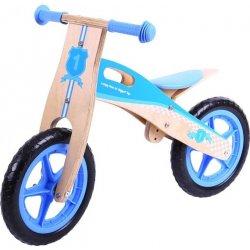 Multitoys Bigjigs Toys dřevěné odrážedlo Modré kolo - LEHCE POŠKOZENÉ SEDLO Z VÝROBY