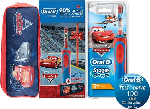 Braun Elektrický zubní kartáček pro děti Oral-B Stages Power Cars D12.513K