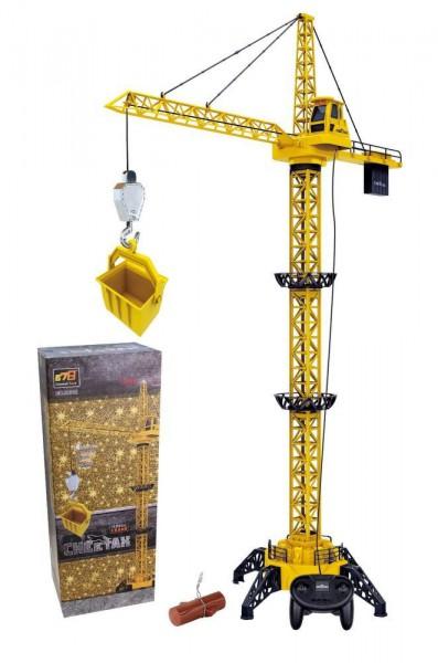 CHEETAH TOYS Stavební jeřáb 128cm s dálkovým ovládáním - DOPRAVA OD 49,- Kč (ZÁSILKOVNA.CZ)