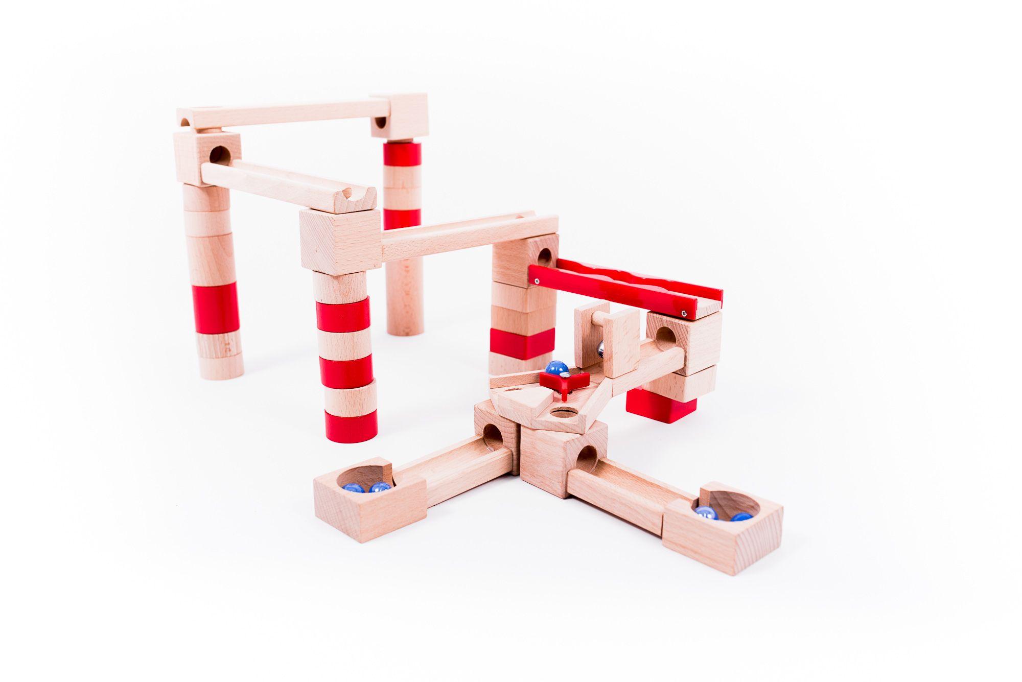 Alltoys dřevěná kuličková dráha 40 dílů - DOPRAVA OD 49,- Kč (ZÁSILKOVNA.CZ)